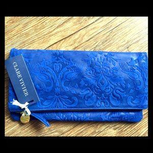 PRICE DROP! Clare Vivier Foldover Leather Clutch✨